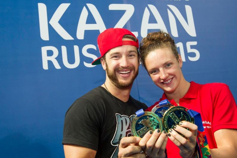 Hosszú Katinka és Shane Tusup (MTI Fotó: Kovács Anikó)